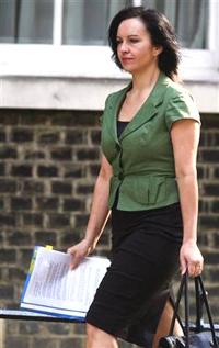 Caroline Flint exposes her briefs