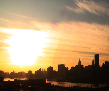 Sunset over New York
