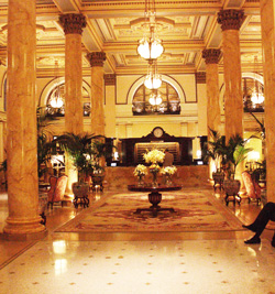 Lobby at the Willard