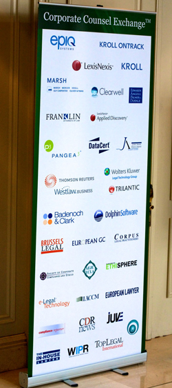 Sponsor banner at IQPC Brussels