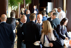 A networking break at IQPC Exchange in Brussels