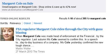 Margaret Cole of the FSA