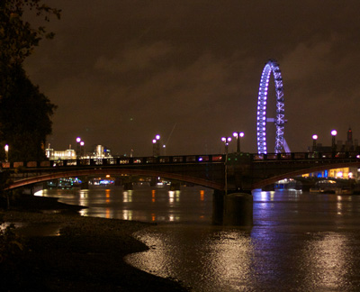 Thames at Westminster by night