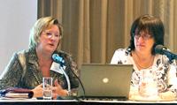 Pam Roberts and Julie Kudyba of Novartis