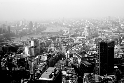 London from the Gherkin